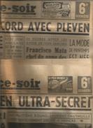 """2 Journaux """" France-soir"""" 2 Et 14 Fevrier 1951 Conferencefrance Italie Ultra Secrete Combat Dauthuille Eisenhower Pleven - Revistas"""