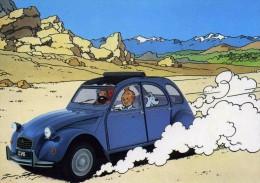 """TINTIN  10  /   """" CITROEN ET LA BD  1984 """" Creation HERGE édition La Publicité Française 2 CV - Hergé"""