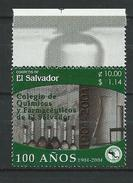 El Salvador 2004 The 100th Anniversary Of Pharmaceutical College - Litho.MNH - Salvador