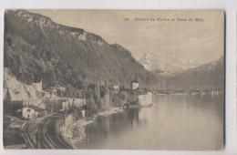 Château De Chillon - 1915  - Veytaux - Voie Ferrée - Suisse Vaud - VD Vaud