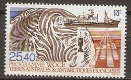 T. A. A. F.    -    1992 .   Y&T N° 170 **.   Programme WOCE - Tierras Australes Y Antárticas Francesas (TAAF)
