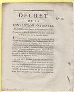 Decret De La Convention Nationale - N°68 - Vins Et Liqueurs Prohibition - Bar Sur Ornin  - Meuse - Décrets & Lois