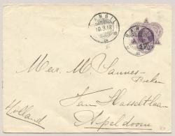 Nederlands Indië - 1912 - 17,5 Cent Opdruk Op Voorbedrukte Envelop Van KB BANGIL Naar Apeldoorn / Nederland - Nederlands-Indië