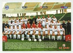 AS Bari - 2000/2001 - Serie A - Cartoncino Pubblicitario (con Antonio Cassano) - Soccer