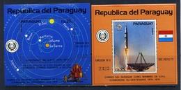 PARAGUAY 1974 №BL.219-220 COSMOS. 100 Years Of The Universal Postal Union (UPU). UPU