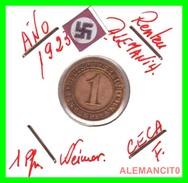 GERMANY, WEIMAR REPUBLIC 1923-1929 RENTENPFENNIG AÑO 1923-F  Bronze - 1 Rentenpfennig & 1 Reichspfennig