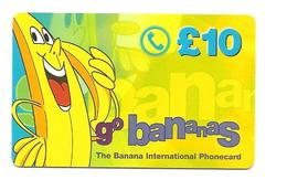 UK Interoute Ireland Banana Intl Phonecard GO BANANAS - USED / NO AIRTIME - United Kingdom