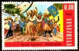 Folk Dance, Venezuela Stamp SC#C923 Used - Venezuela