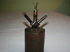 ALLEMANDE German Mine Schrapnellmine 35  S-Mine Springmine Sprengmine 35 S.Mi.35 Neutralisé Fusee - Armes Neutralisées