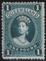 Queensland      .       SG     .     165     .         O       .          Gebruikt   .    /    .   Cancelled - 1860-1909 Queensland