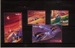 AUSTRALIA - Space Fantasy Set Of 4 2000 Mint NH BELOW FACE - Space