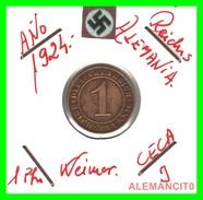 GERMANY, DEUTSCHES.REICH  1924-1936  REICHSPFENNIG  AÑO 1924-J  Bronze - 1 Rentenpfennig & 1 Reichspfennig