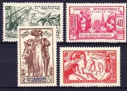 NOUVELLE CALEDONIE 1937 YT N° 167 à 170 * - Nouvelle-Calédonie