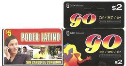 USA PHONE CARDS GEO Telecom / Poder Latino- 2008 - USED / NO AIRTIME - United States