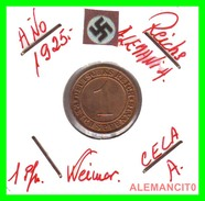GERMANY, DEUTSCHES.REICH  1924-1936  REICHSPFENNIG  AÑO 1925-A  Bronze - 1 Rentenpfennig & 1 Reichspfennig