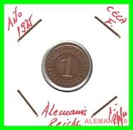GERMANY, DEUTSCHES.REICH  1924-1936  REICHSPFENNIG  AÑO 1925-F  Bronze - 1 Rentenpfennig & 1 Reichspfennig