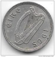 Ireland  3 Pence   1965  Km 12a    Xf - Irlande