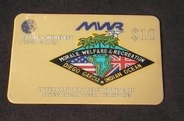 DIEGO GARCIA BIOT Phonecard Cable & Wireless $10 MWR DG59 USED/NO AIRTIME VALUE