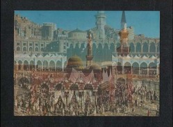 Saudi Arabia 3 D Picture Postcard Holy Mosque Ka´aba Mecca & Madina Medina Plastic View Card - Saudi Arabia