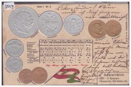 PIECES DE MONNAIES AUTRICHIENNES - CARTE EN RELEIF - PRÄGE KARTE - TB - Monnaies (représentations)