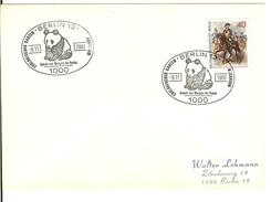 WWF Promotion BERLIN Cover Panda Postmark  /  WWF Réclame Panda Cachet De La Poste  1980 - Ours