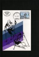 Oesterreich / Austria 1988 Welt Winterspiele Fuer Behinderte Maximumkarte - Ski