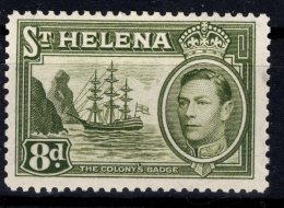 Saint Helena, 1938, SG 136b, Mint Hinged - St. Helena