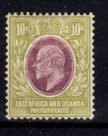 KUT: East Africa And Uganda Protectorates, 1907, SG 37, Mint Hinged (Wmk Mult Crown CA) - Protectorados De África Oriental Y Uganda