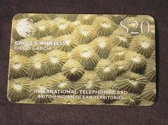 DIEGO GARCIA BIOT Phonecard Cable & Wireless $20 Coral USED / NO AIRTIME VALU