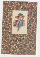 BOMPARD  - GLAMOUR WOMAN & FLOWERS - N. 506/3 - 1910s ( 163 ) - Künstlerkarten