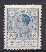 GUINEA 1920 EDIFIL Nº 147. 25 CENTIMOS  ALFONSO XIII NUEVO CON CHARNELA    SES505GRANDE - Guinée Espagnole