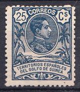 GUINEA 1909 EDIFIL Nº 65 . 25 CENTIMOS    ALFONSO XIII NUEVO CON CHARNELA    SES505GRANDE - Guinea Española