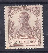 GUINEA 1912 EDIFIL Nº 86 . 2 CENTIMOS    ALFONSO XIII NUEVO CON CHARNELA    SES505GRANDE - Guinea Española