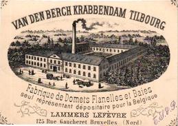 GEEN POSTKAART  : 1 Visite Kaartje  VAN DEN BERGH KRABBENDAM TILBURG Tilbourg Lammers LEFEVRE  Circa 1859 - Tilburg