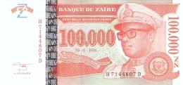 ZAIRE   100,000 Nouveaux Zaires   30/06/1996   Sign.11   HdMZ   P. 77   UNC - Zaïre