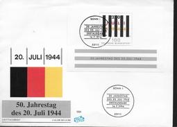 ALLEMAGNE  FDC 1994  Guerre Attentat Du 20 Juillet  1944 - Guerre Mondiale (Seconde)