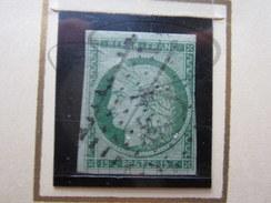 """VEND TIMBRE DE FRANCE N° 2 , OBLITERATION LETTRES ROMAINES """" DS2 """" , SIGNE !!!! - 1849-1850 Cérès"""
