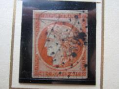 VEND TIMBRE DE FRANCE N° 5 , ORANGE !!!! (a) - 1849-1850 Cérès