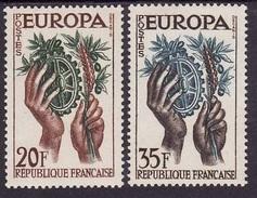 Europa-Cept 1957 - France Yv.no.1122-3 Neufs** - Europa-CEPT