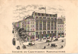 1Carte De Visite Trade CARD  Soc Du Caoutchouc Manufacture Rue N.D. De Nazareth Paris - France