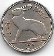 Ireland  3 Pence   1964  Km 12a    Vf+ - Irlande