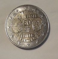 2 EUROS FRANCIA 2013     50 Aniv.Traité De L'Élysée   Sin Circular - Francia