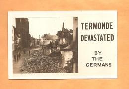 Dendermonde Termonde Devastated Carte Photo Fotokaart 1914 - Dendermonde