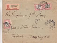 Finlande - Lettre Recom De 1921 - Oblit Helsinki - Exp Vers Les Pays Bas