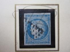 VEND BEAU TIMBRE DE FRANCE N° 4 , BLEU CLAIR !!!! - 1849-1850 Cérès