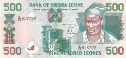 SIERRA LEONE   500 Leones   27/4/1995 (1996)   P. 23a   UNC - Sierra Leone