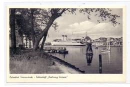 """FÄHREN / Ferry - Travemünde, """"Drottning Victoria"""", 1956 - Ferries"""