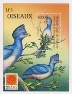MDB-BK5-049-3 MINT - POSTFRIS ¤ GUINEE 2002 BLOCK ¤ - VÖGEL - BIRDS - VOGELS - OISEAUX - AVES -