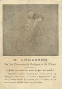CYCLES WARRIOR, Bannalec, Agence De Tréméven, G. LEMASSON, CHAMPION DE BRETAGNE, VELO, CYCLISME - Sin Clasificación