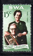 R419 - SOUTH WEST AFRICA  1967 , 15 Cent Integro    ***   Swart Testo Tedesco - Africa Del Sud-Ovest (1923-1990)